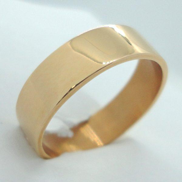Kultainen kihlasormus, 6 mm flakkamalli