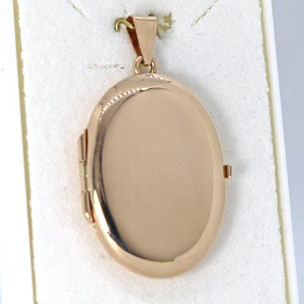Kultainen avattava medaljonki 30 mm